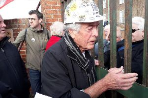Protestors staging a last-ditch bid to save the home found gates locked