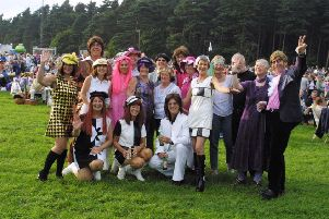 2002: Groovy baby...a fabulous line-up ready to party at the 60s concert at Clumber Park. Did you go and did you dress up?