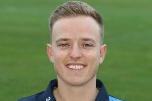 Ben Slater in his Derbyshire kit this summer.