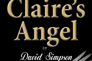The cover of David Simpson's debut book, 'Claire's Angel'.