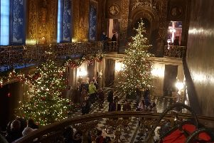 Chatsworth decorated for Christmas