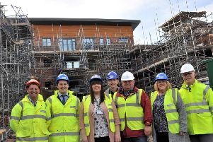 Mark Hackleton, site manager for Woodhead Group; Leo Woodhead; Sam Bunting, Supported Housing Manager for Bassetlaw District Council; Coun John Shephard, Ward Member for Manton; Coun Steve Scotthorne; Coun Josie Potts; Kenay Reshad, Technical Design Manager for Bassetlaw District Council.