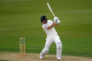 Joe Weatherley frustrated the Notts bowlers during the opening session.