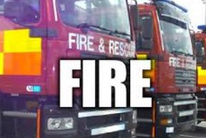 Firefighters attended a car fire in Bolsover.
