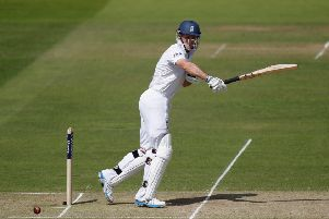 Andrew Strauss picks up some runs for England.