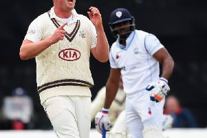 Luke Fletcher claimed two wickets on a good opening morning for Notts at Kent.