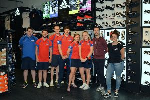 Sports Direct have opened a new store in the Priory Centre. Pictured are members of the sales team.