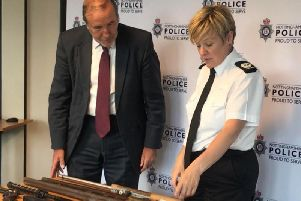 PPC Paddy Tipping and Assistant Chief Constable Kate Meynell