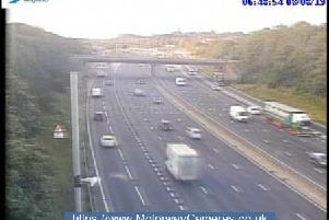 Junction 28 of the M1 southbound.