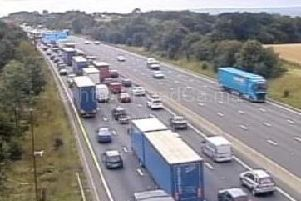 Motorists are being warned to expect delays of up to 45 minutes