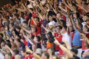 Forest fans in full voice at the City Ground