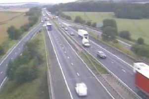 The A1 at Markham Moor.
