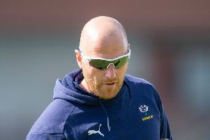 HURTING: Yorkshire first-team coach, Andrew Gale.