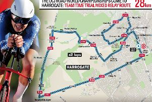 Time trial route for Sunday. Graphic: Graeme Bandeira