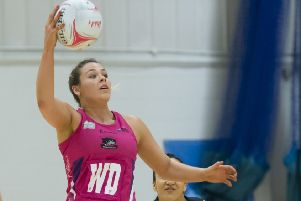 Yorkshire Jets'''Sophie Halpin in action against Team Northumbria. PIC: Chris Midgley