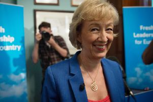 Andrea Leadsom launches her bid for the Tory leadership. Credit: Stefan Rousseau/PA Wire