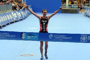 Alistair Brownlee wins the Elite Men's Race.