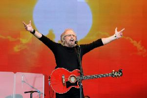 BARRY GIBB: Just one of the stars of then and now.