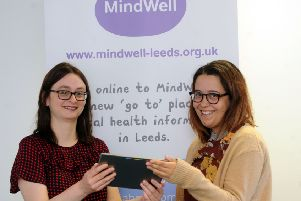 28 Sept 2017.......Nicola Gallear and Zoe Limbert mHabitat of the NHS' MindWell, the groundbreaking mental health online website for Leeds. Picture Scott Merrylees