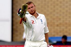 Speaking out: Andrew Flintoff, pictured playing during the 2005 Ashes series, has spoken about his own struggles with depression. Picture: PA.