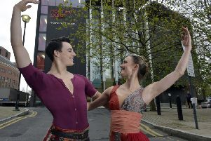 DANCE WITH DESTINY: Tom Holdsworth and Hannah Bateman of Northern Ballet at a Leeds2023 promotional event last year. PIC: Steve Riding