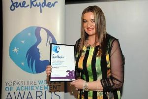 Christina Gabbitas was presented with the Achievement in Education award at The Yorkshire Women of Achievement awards in 2016.
