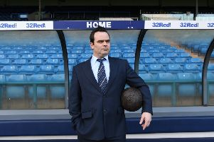 Damned United actor Luke Dickson during a recent visit to Elland Road.