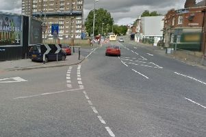 The junction of Copley Hill and Wellington Road in Leeds.