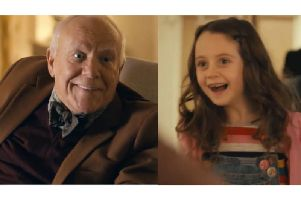 Grandad beams as his grand-daughter turns up to see him enjoying life to the full in a new McCarthy and Stone retirement apartment
