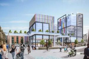 Artists' impression of the new Channel 4 headquarters in Sheffield.