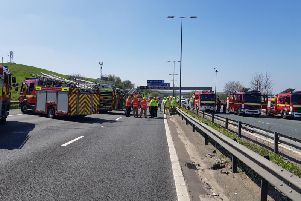 The M62 has been re-opened again after hours of delays.