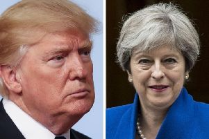 US President Donald Trump has ignored calls from UK Prime Minister Theresa May not to pull out of the Iran nuclear deal.