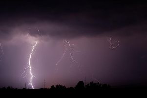 Lightning is expected over the weekend in Yorkshire.