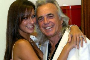 Peter Stringfellow and his wife, Bella
