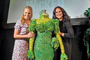 Stars of Wicked Helen Woolf (Glinda) and Amy Ross (Elphaba) in Leeds to promote the production's visit to the Leeds Grand Theatre this summer. Picture Tony Johnson.