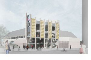 The new city-facing entrance of West Yorkshire Playhouse