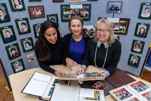 Ninelands Primary school business manager Jenny Harrison with parent helpers Sarah Smales and Liz Walton.