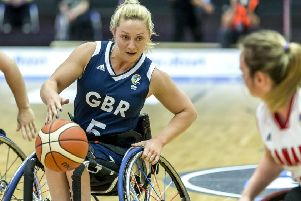 Sophie Carrigill in action for GB wheelchair basketball against Canada at the recent world championships. (Pictures: SA-Images)