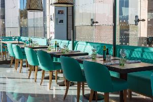 Inside the new Gino D'Acampo restaurant at The Springs.