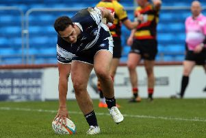 Carnegie try scorer, Peter Lucock. PIC: Varley Picture Agency
