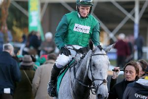 Wetherby winner: Bristol De Mai and Daryl Jacob after winning the Charlie Hall Chase at Wetherby last year.