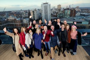 The bid team celebrate Channel 4 coming to Leeds...31st October 2018 ..Picture by Simon Hulme