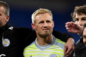 Leicester City goalkeeper Kasper Schmeichel after the Premier League match at the Cardiff City Stadium on Saturday. PIC: Simon Galloway/PA Wire