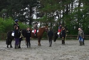 A group of riders at Leeds Area RDA.