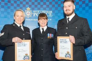 PC Jack Knight and PS Vanessa Briggs successfully talked down a female contemplating suicide on the Rainbow Bridge over the M62 motorway
