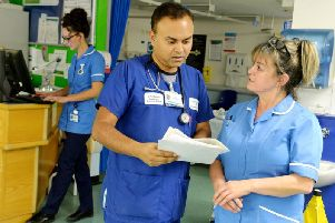 Dr Anin Dasgupta, Consultant in Emergency medicine, in the St James' Hospital A&E department in Leeds. Picture: Bruce Rollinson.