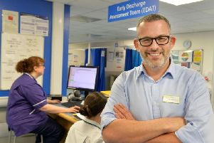 Steve Bush, clinical director of emergency and specialty medicine at Leeds Teaching Hospitals NHS Trust, in the A&E department at St James' Hospital in Leeds. Picture: Bruce Rollinson.