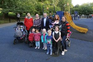 The five mums who spearheaded the campaign to refurbish the playground