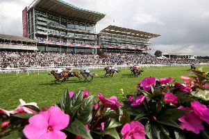 York winner: The scene as Emaraaty Ana wins the Gimcrack Stakes at the Ebor Festival on Knavesmire. (Picture: Tim Goode/PA)