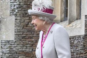 The Queen arriving to attend the Christmas Day morning church service at St Mary Magdalene Church in Sandringham, Norfolk. Picture by Joe Giddens/PA Wire.